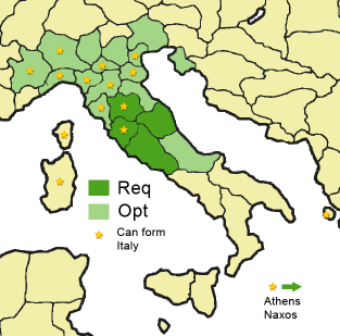 Map Of Provinces In Italy.Form Italian Nation Europa Universalis 3 Wiki
